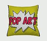 jilda-tex Zierkissen Deko-Kissen mit Füllung 45x45 cm doppelseitiger Druck Motiv lustig Verschiedene Designs (Pop Art)