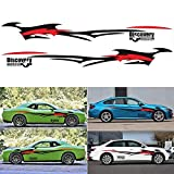 ViCiCA 1 Set Car Body Side Truck Decal Vinyl Flame Graphics Racing Stripes Sticker Universal
