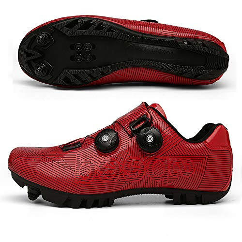 Elite SPD MTB Radschuhe für Männer Frauen ideal für Mountainbike, Cyclo Cross Country XC Bikes in inklusive Red-39