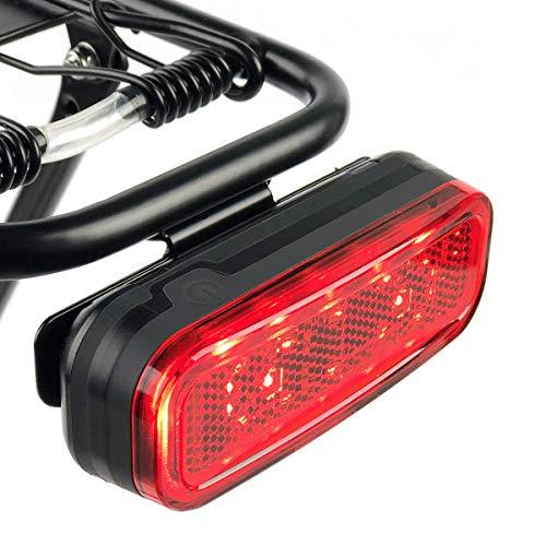 BikeSpark Auto-Sensing-rücklicht g4 für Cargo Carrier - 50 lm super helle led-Fahrrad-rücklicht mit großflächenreflektor - AAA batterie-wasser-resistanceipx4-50 / 80mm Quick Mount