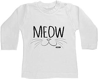 Hariz - Camiseta de manga larga para bebé, diseño de animales de la guardería, tarjeta de regalo, diente de leche, color b...