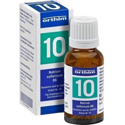 Schuessler Globuli Nr. 10 - Natrium sulfuricum D6 - 15g Globuli - gluten- und laktosefrei