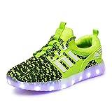 Axcer LED Zapatos Verano Ligero Transpirable Bajo 7 Colores USB Carga Luminosas Flash Deporte de Zapatillas con Luces Los Mejores Regalos para Niños Niñas Cumpleaños de Navidad