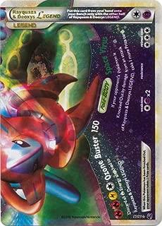 Pokemon Legend HS3 Undaunted Single Card Rayquaza & Deoxys LEGEND Bottom #90 Rare Holo