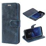 Mulbess Cover per Samsung Galaxy S8, Custodia Pelle con Magnetica per Samsung Galaxy S8 [Vinatge Case], Blu Navy