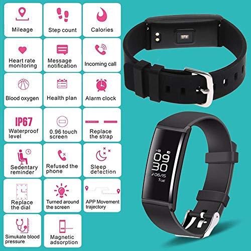 yimosecoxiang - Smartwatch Impermeabile con cardiofrequenzimetro, monitoraggio della Pressione sanguigna, contapassi