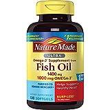Nature Made Ultra Omega-3 Burpless Fish Oil 1400 mg Softgels w. Omega 3 1000 mg, 130 Count
