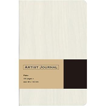 ナカバヤシ ARTIST JOURNAL ノート ハードカバー A6 スリム 無地 ホワイト 67855