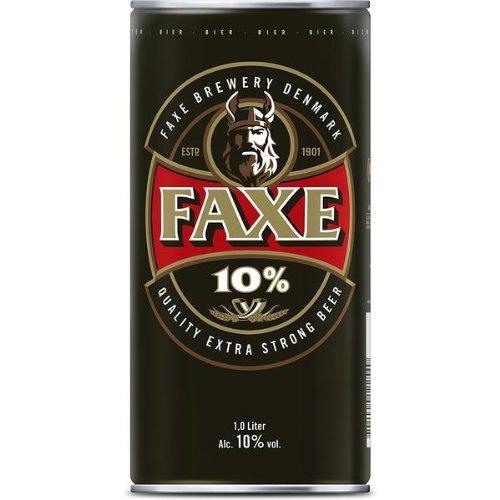 Faxe 10% Extra Strong, 1 Liter Dose EINWEG