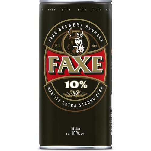 Faxe Extra Strong Beer Bier 10% vol. (6 x 1l) inkl. 1,50 € Pfand EINWEG