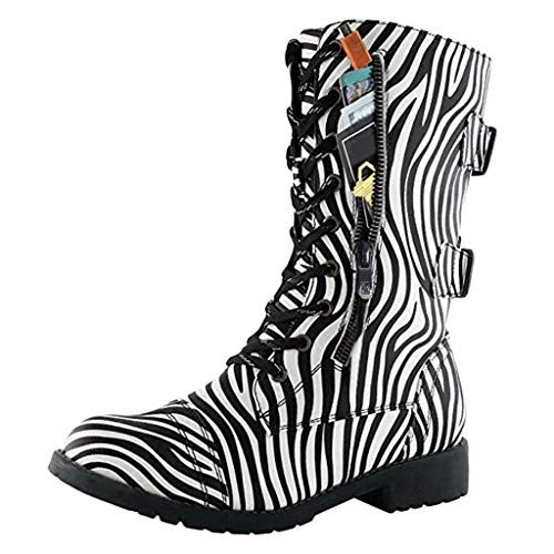 Find Discount Women's Ankle Bootie High Lace up Military Combat Mid Calf Credit Card Wallet Pattern ...