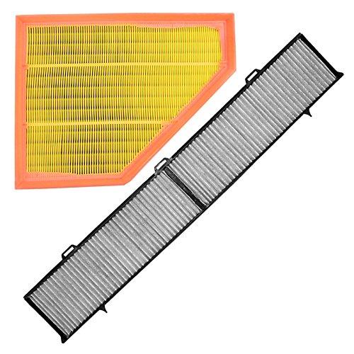 1x Set Innenraumfilter (Pollenfilter) mit Aktivkohle + 1x Luftfilter