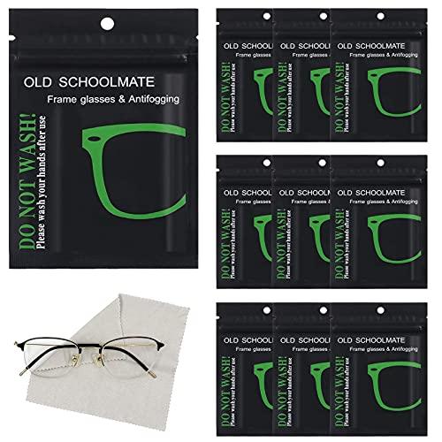Ropa De Microfibra Paño De Limpieza para Gafas 10 Pcs Anti Niebla Vasos De Tela Toallitas De Limpieza Paños Antivaho para Gafas para Gafas Limpias Smartphone Laptop Celulares Espejos De Coche