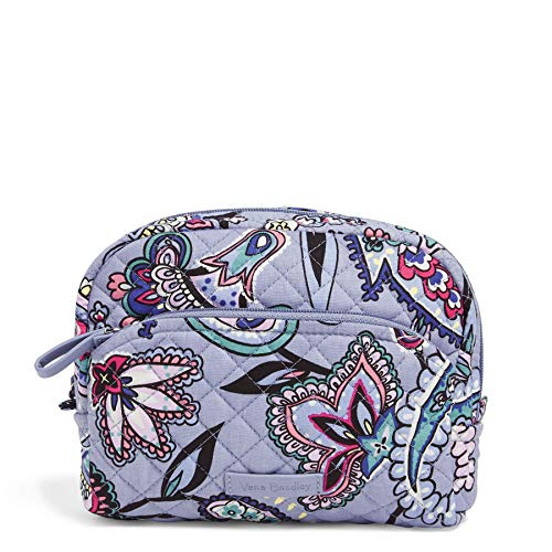 Vera Bradley Women's Signature Cotton Medium Cosmetic Makeup Bag, Makani Paisley, One Size