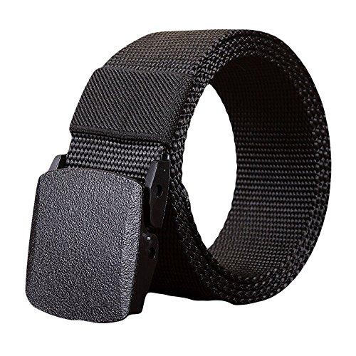 Unisex Gürtel Nylon Canvas Belt für Damen und Herren, Stufenlos Verstellbarer Stoffgürtel, Militär Taktische Gürtel Atmungsaktiv Canvas Stoffgürtel Outdoor Gürtel Canvas Belt (130cm, A)