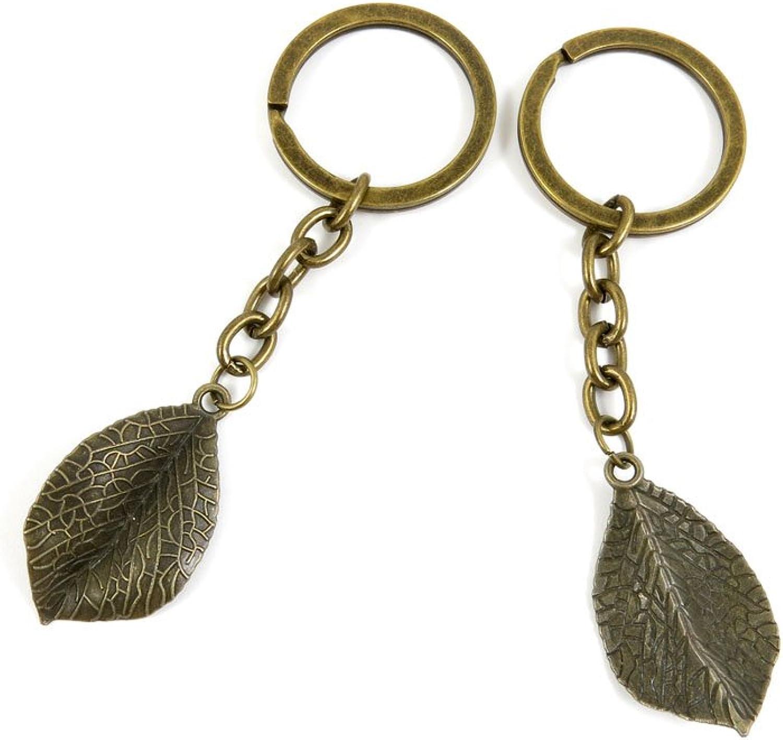160 Pieces Fashion Jewelry Keyring Keychain Door Car Key Tag Ring Chain Supplier Supply Wholesale Bulk Lots B7EZ3 Leaf Leaves