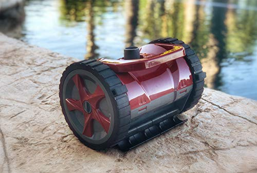 Read About New Advanced Suction Automatic Swimming Pool Cleaner Vacuum with Wheels - Complete Set wi...