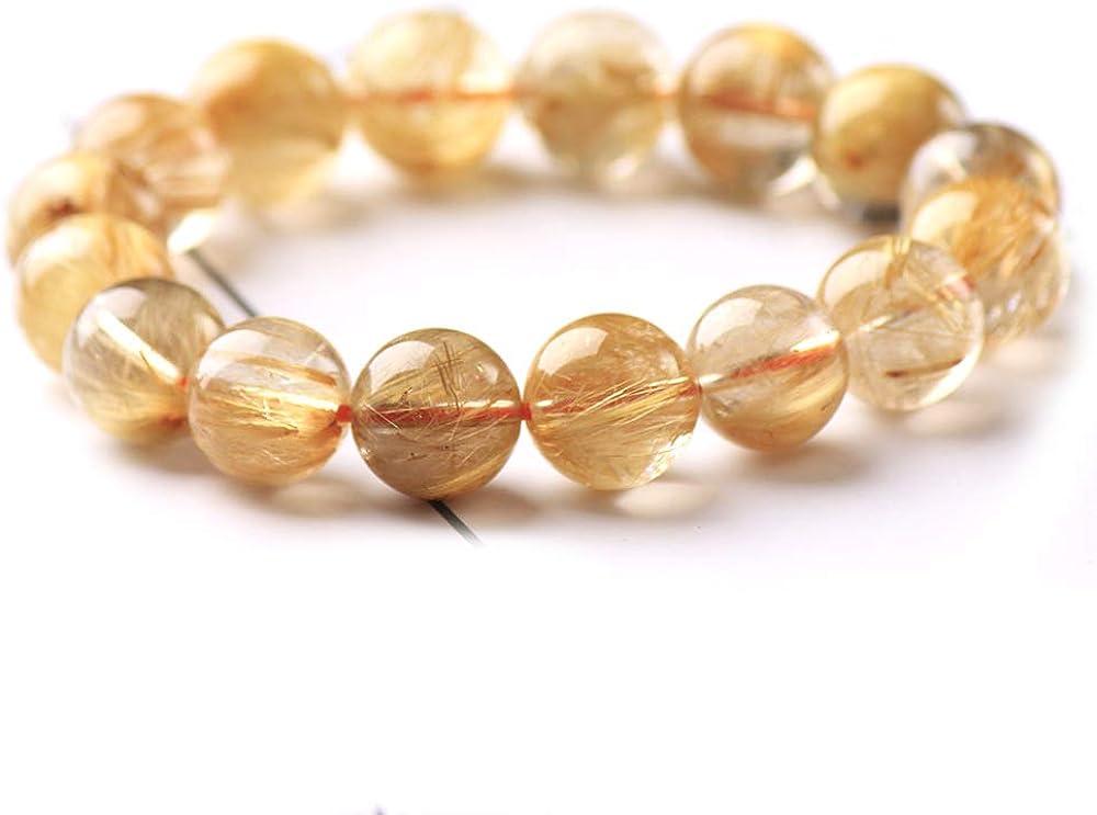 DUOVEKT Natural Max 80% OFF Brazil Gold Rutilated Wome for Titanium overseas Bracelet