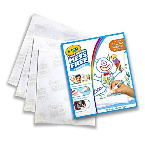 Crayola - Recharge de feuilles blanches Color Wonder - Loisir créatif - Color Wonder - à partir de 3 ans - Jeu de dessin et coloriage