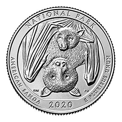 2020 W American Samoa National Park Quarter Single Coin in Air Tite Holder Quarter Uncirculated US Mint