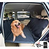 AMOCHIEN Back Seat Extender for Dogs - Backseat Pet Bridge, Dog Hammock Covers Entire Back Seat, Rear Pet Foam Platform Divider Barrier Water Resistant , Ideal for Trucks, SUVs, and Full Sized Sedans