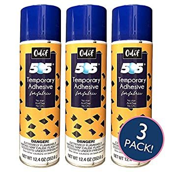 Odif USA 505 Spray & Fix Temporary Fabric Adhesive 3/Pk-12.4oz 3 Pack