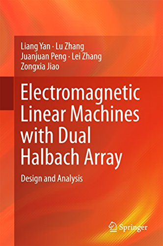 Electromagnetic Linear Machines with Dual Halbach Array: Design and Analysis