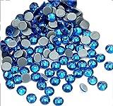 Piedras de estrás con el reverso plano y fijación con calor de Jollin, Capri Azul, ss20