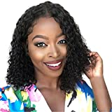 14 inch Brazilian Women Wigs Human Hair Wigs Natural Hairline Wigs for Black Women Natural Looking High-Temperature Resistance Fibers (14inch, Black)