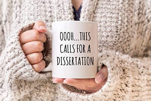 DKISEE Taza de té de café con tesis de tesis de tesis PHD para disertación de graduación