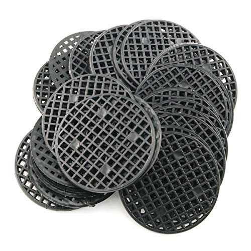 E-outstanding 30-Pack Round Flowerpot Mesh Pad Breathable Leakproof Bottom Grid Mat with Drainage Hole Bonsai Durable Protection 5.5cm Diameter