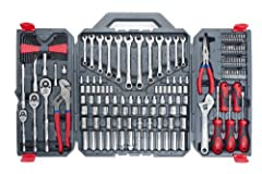 Updated version of the best selling CTK170CMP, this new set has a new & sturdier blow mold case as well as new & improved Crescent screwdrivers Contains a carefully selected assortment of hand tools needed for most industrial, mechanical, and consume...
