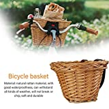 Sliveal briskay Bicycle Basket Children Front Handlebar Basket, Braided Wicker Basket Front Bicycle Accessories, Environmentally Friendly Handwoven Basket Wicker Woven Basket For Teens Awesome