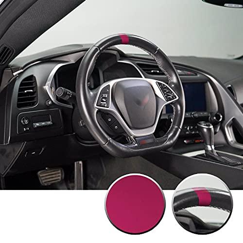 Optix Steering Wheel Stripe Overlay Pre Cut Graphic Vinyl Decal Compatible with Chevy Corvette C4 C5 C6 C7 C8 1984-2021 - Metallic Matte Chrome Pink