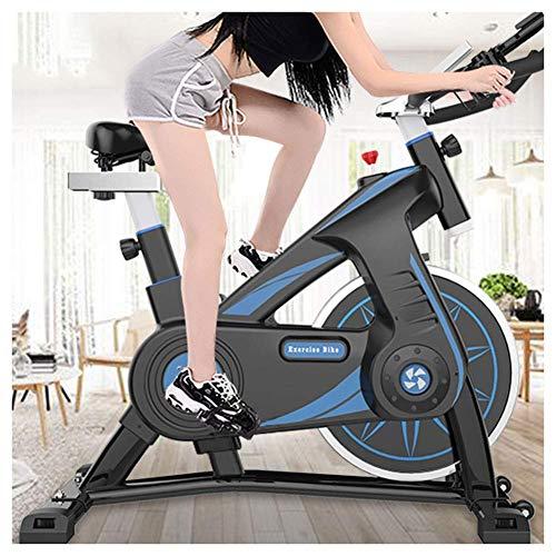 WDCC Bicicleta de Ejercicio Ultra silenciosa Bicicleta de Spinning para Interiores 200KG Equipo de Fitness para Deportes domésticos con Soporte de Carga Móvil Conveniente para Entrenamiento en casa