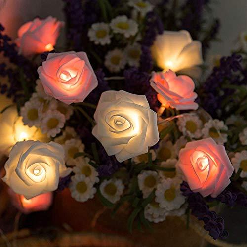 CFLFDC Kandelaar, simulatie, LED-lamp, roze, decoratieve lamp, andere specificaties neem contact op met klantenservice, poeder en wit