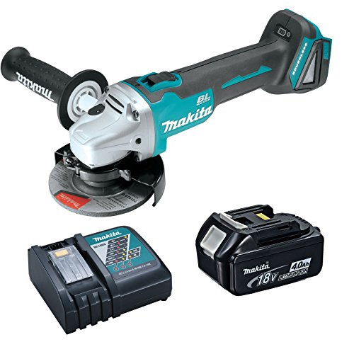 "Makita XAG03Z 18V 4-1/2"" Brushless Cut-Off/Angle Grinder 4 Ah Battery, Charger"