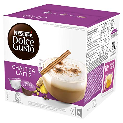 NESCAF? Dolce Gusto Chai Tea Latte, Pack of 3 (Total 48 Capsules, 24 Servings)