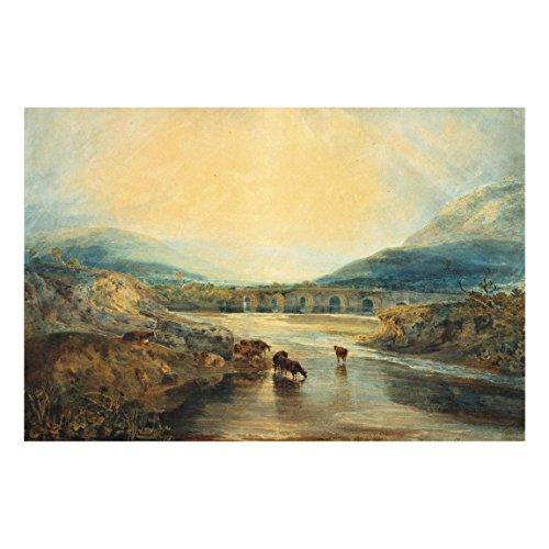 Bilderwelten Cuadro de Cristal William Turner Pont d'Abergavenny Monmouthshire 2:3 60x90cm