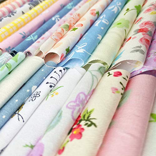 "60pcs Quilting Fabric Squares Sheets 60 Different Lovely Floral Pattern Pack Assorted Sewing Fabric for Craft 10""x 10"" (25 cm x 25 cm)100% Cotton"