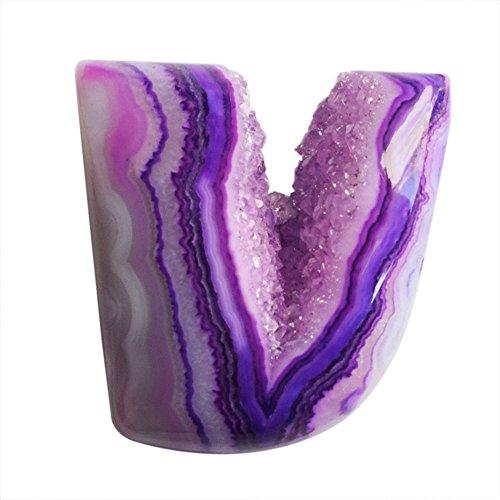 Piedra preciosa drusa de excelente calidad para bisutería, tamaño 25 x 24 x 8 mm, drusias, proveedores de drusas AG-8420