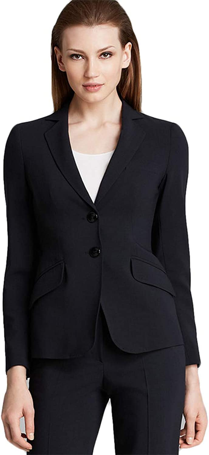 WZW Women's Pant Suits Black Bussiness Formal Set Blazers Office Uniform LadiesTrouser