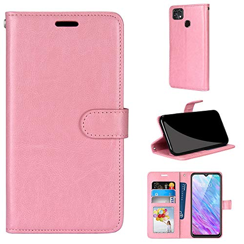 Tznzxm ZTE ZMax 10 Case, ZTE Z6250 Wallet Case,Premium PU Leather Phone Case Folio Cover with Kickstand [3 Card Slots] Magnetic Folding Protective Full Body for Consumer Cellular ZMax 10 Pink