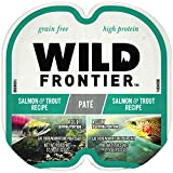 Wild Frontier High Protein Grain Free Pate Wet Cat Food, Salmon &...