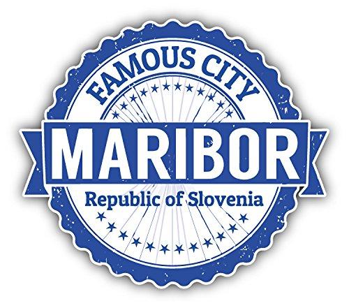 Maribor City Slovenia Grunge Travel Stamp Hochwertigen Auto-Autoaufkleber 12 x 10 cm