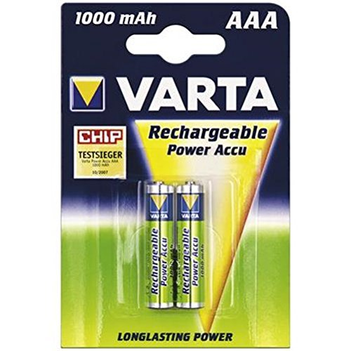 Varta® Power Lot de 2 piles Ni-MH Micro (AAA) 1,2 V 1000 mA (56763), sous blister