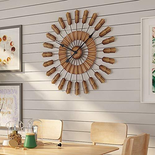 MDSQ Reloj De Pared De Hierro Forjado Vintage. Creativa Sala De Estar. Reloj Silencioso De 60 Cm.
