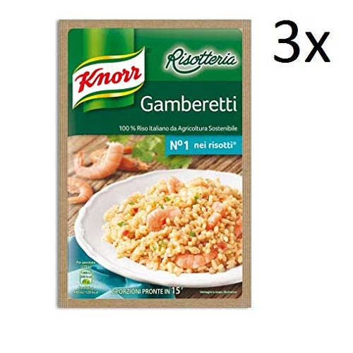 3x Knorr Risotto gamberetti Reis Garnelen 175g 100% italienisch Fertiggerichte