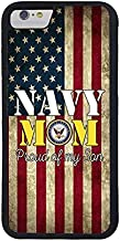 FIDIKO US Navy Mom Proud of My Son US Flag Back Cover Compatible iPhone 8, Cute Hard Plastic Durable | Anti Scratch Case Cover Compatible iPhone 7/8