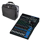 Bundle includes: (1) Yamaha MG12XU Mixer & (1) Gator G-MIXERBAG-1815 Carry Bag USB works with PC, Mac and the iPad (2 or later) Includes Cubase AI DAW software (download) 2 TRS auxiliary outputs with send level controls on each channel 3-band EQ on c...